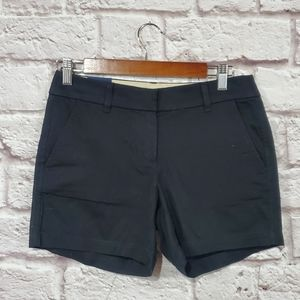 J. Crew Black Cotton Mid Rise Short Shorts